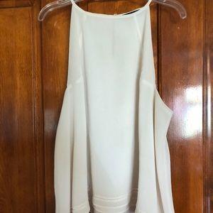Cream high neck halter tank from Zara